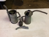 Huffman Oil Spout Pitcher, 3-misc. Oilers