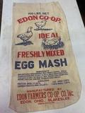 Edon Farmer Co-op Chicken Feed Cloth Sack, 100lbs