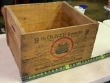 Oliver Typewriter Shipping Box, Sold To J M Toner Edon Ohio.