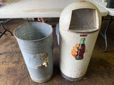 Trash Can With Coca Cola Sticker, And Metal Inter Trash Can