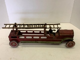 Metal Vintage Toy Fire Engine With Driver