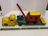 Structo Metal Truck And Trailer With Crane And Bucket