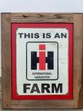 International Farm Sign, In A Frame 19.5