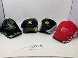 3-John Deere Hats, 1 Super MTA hats have been worn