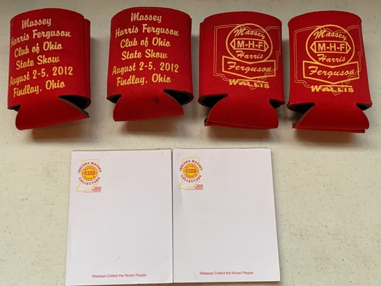 Massey Harris Ferguson Can Coozies & Collector Pads
