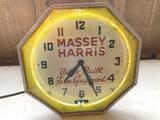 Massey Harris Neon Clock