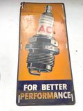 AC Delco Spark Plug Metal Sign