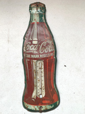 Coca Cola Metal Thermometer
