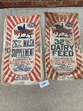 Set of 2 Wayne Feed Sacks