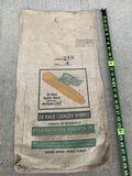 DeKalb Seed Corn Sack Black & Green Label