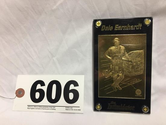 "22 Karat Gold Dale Earnhardt ""The Intimidator"" collectible card. Mint condition"
