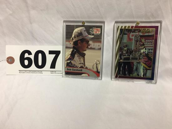 2 Collectible Dale Earnhardt trading cards