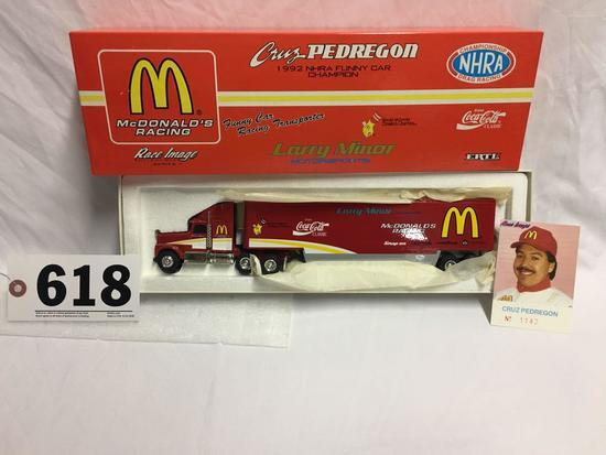 Cruz Pedregon McDonalds 1992 NHRA funny car champion tractor trailer set with card