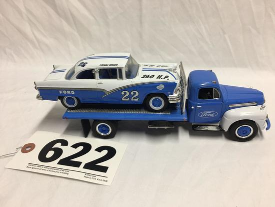 Replica 1951 Ford car hauler truck with replica 1956 Ford race car With box