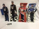 Various NASCAR driver card board stand-ups