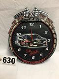 Dale Earnhardt collectible hanging wall clock