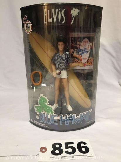 Elvis Presley enterprises blue Hawaii collector figure with push button light up feature; new in box