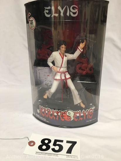 Elvis Presley enterprises Karate Elvis collector figure with push button light up feature new in box