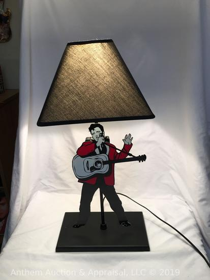 Elvis Presley desk lamp w/ battery powered swinging legs. Elvis Presley enterprises official produc