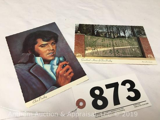 2 Elvis Presley 1977 Graceland post cards