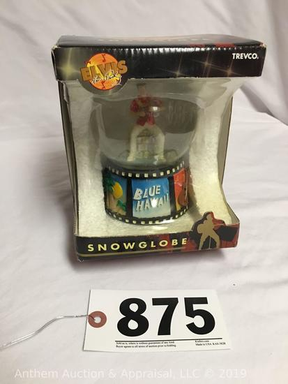Elvis Presley Blue Hawaii snow globe in box. official Elvis Presley enterprises item