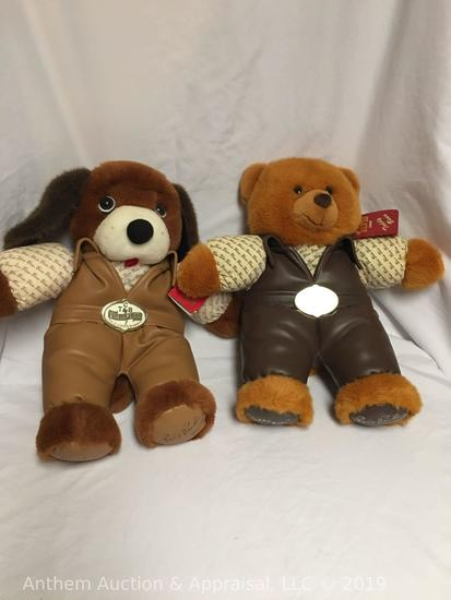 Elvis Presley TCB collectible plush dog and plush bear. Dog sings hound dog and bear sing teddy bear