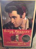 Ultra Rare!!! Elvis Presley theater poster of Jailhouse Rock. Copyright 1957. Poster numbered 57/533