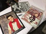 Lots of 3- Elvis Presley sheet metal signs