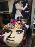 Lot 5- Elvis Presley throw blankets