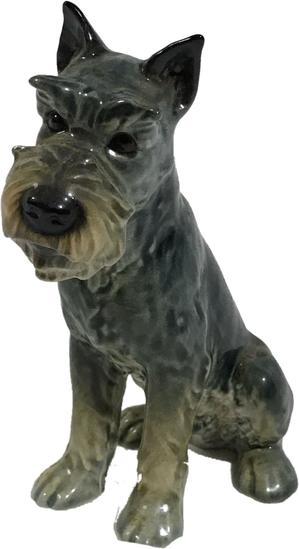 Vintage Goebel Germany Ceramic Schnauzer Dog Figurine