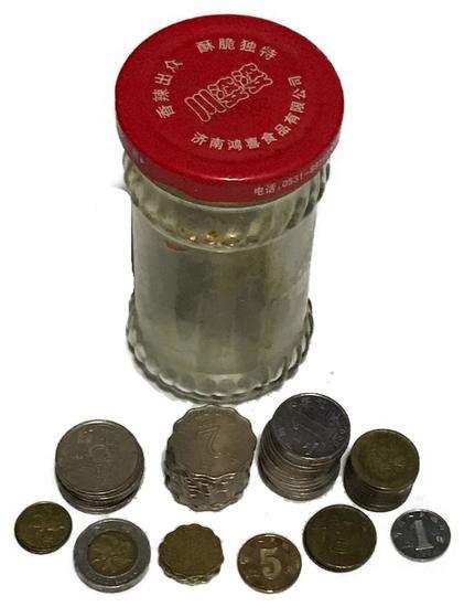 Jar full of Coins from Hong Kong