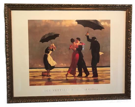 Jack Vettriano The Signing Butler Framed Print
