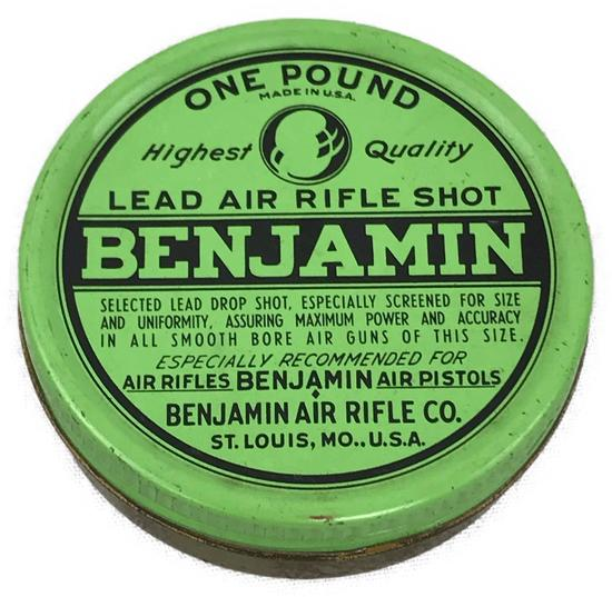 Vintage Tin of Benjamin Air Rifle Lead Shot