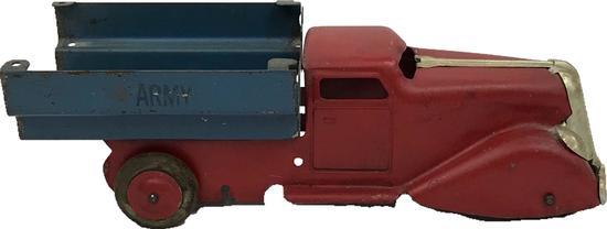 Vintage Pressed Steel Army Truck, circa 1930's