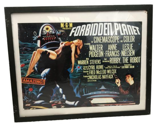 Forbidden Planet Sci Fi Movie Poster;