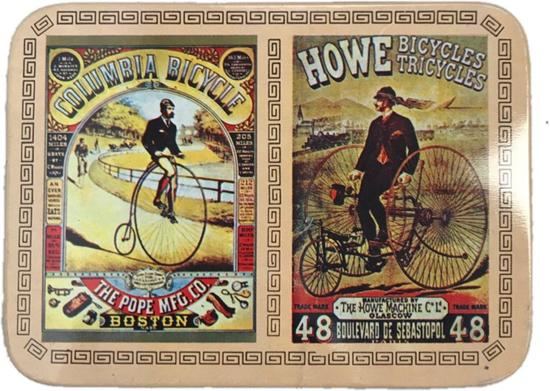 Unopened Collector Tin of Vintgae Bicycle Themed Playing cards