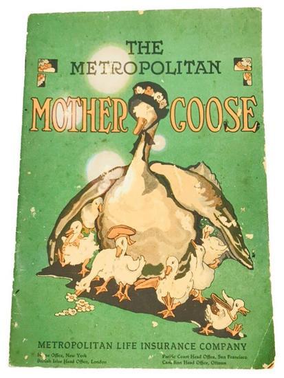 Children's Book, The Metropolitan Mother Goose Circa 1930's