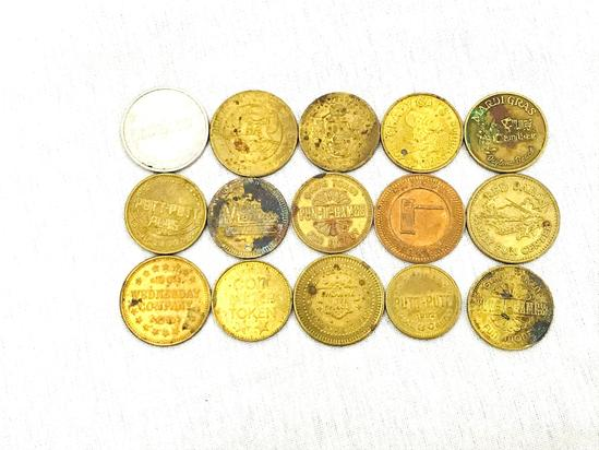 lot 15 pieces of Vintage Game Tokens