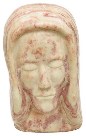 Hand-sculpted Head of a Figure in Stone