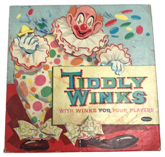 Vintage Tiddly Winks Board Game, 1958