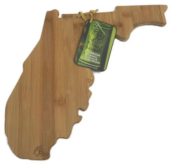 Unique New Bamboo Cutting Board in the Shape of the Unique State of Florida