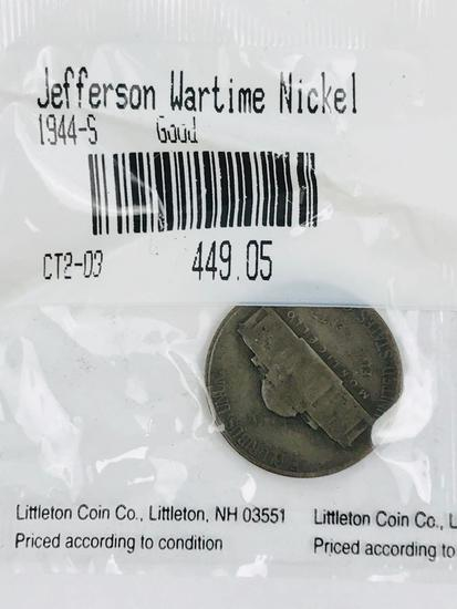 1944-S Jefferson Wartime Nickel