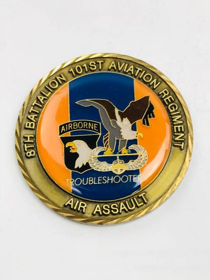 1st Airborne Air Assault Army Challenge Coin, Award for Excellence Presented by the Commander