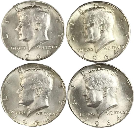 Collection Of 1964 Kennedy Half Dollars