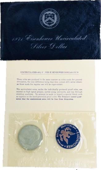 1971 Uncirculated IKE Silver Half Dollar Eisenhower lot 002