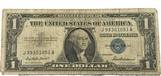 Series 1957 B One Dollar Silver Certificate