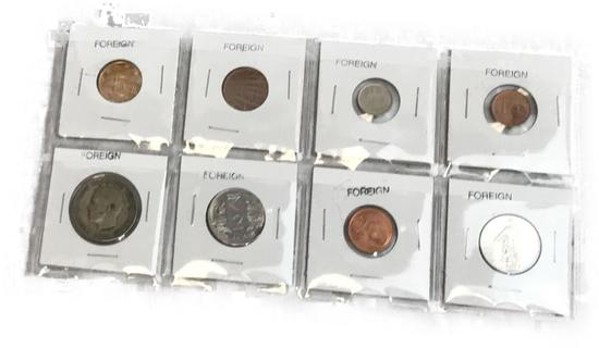 Group Of Assorted Foreign Currency Coins