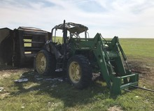 1992 John Deere 6400 Tractor with Loader
