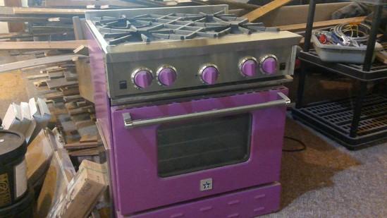 Blue Star Commercial 4 burner range and oven