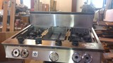 Blue Star Commercial gas range top